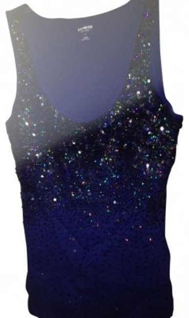 Preload https://item3.tradesy.com/images/express-blue-with-sequin-tank-topcami-size-12-l-28602-0-0.jpg?width=400&height=650