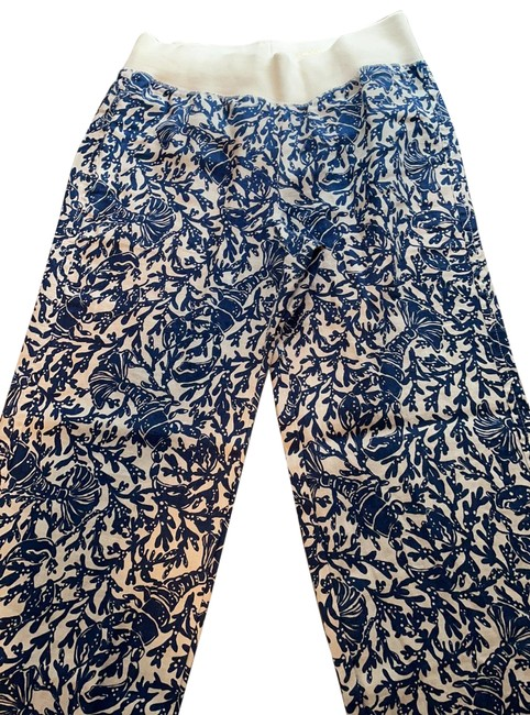 Lilly Pulitzer Blue and White Beach Palazzo Pants Size 4 (S, 27) Lilly Pulitzer Blue and White Beach Palazzo Pants Size 4 (S, 27) Image 1