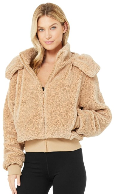 Item - Camel Foxy Sherpa Activewear Outerwear Size 12 (L)