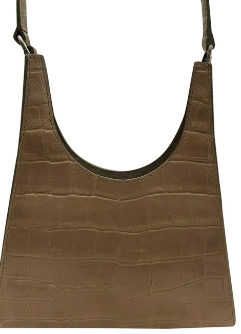 Item - Croc-embossed Gray Leather Hobo Bag