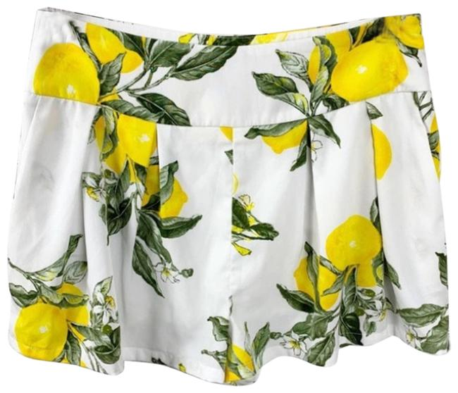 Item - White Moon River Lemon Print Shorts Size 8 (M, 29, 30)