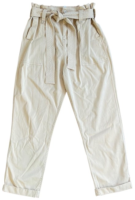 Item - Beige Highwaisted Cargo Paperbag Pants Size 10 (M, 31)