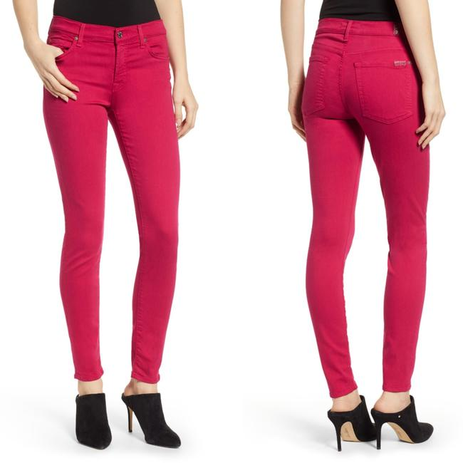 "Item - Magenta Pink Dark Rinse Nwot ""Gwenevere"" Skinny Jeans Size 28 (4, S)"