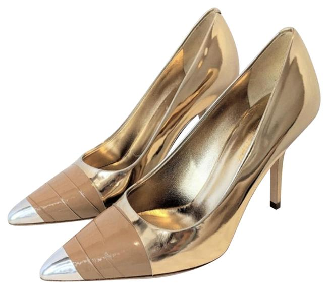 Item - Gold Silver Annalise Mirror Pumps Size EU 36 (Approx. US 6) Regular (M, B)