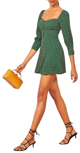 Item - Green New Lumiere Front Short Casual Dress Size 12 (L)