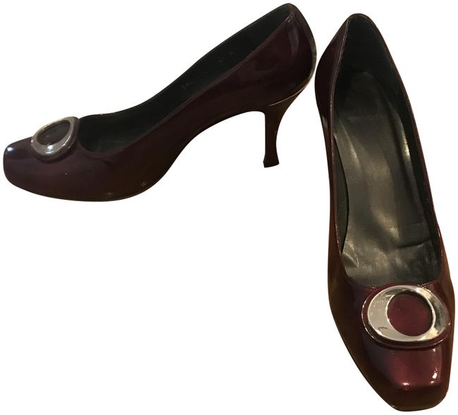 Item - Maroon Patent Leather Fancy Pumps Size US 9 Regular (M, B)