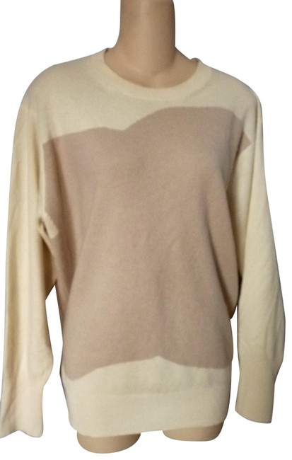 Item - Two Tone Cashmere Ivory Dusty Pink Sweater
