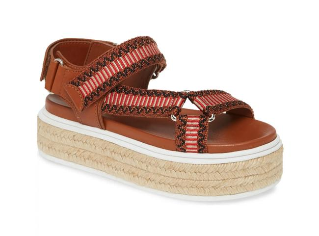 Item - Cognac/ Red Platform Espadrille Sandals Size EU 39.5 (Approx. US 9.5) Regular (M, B)