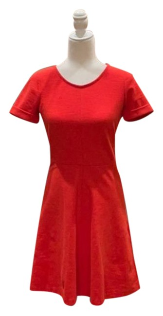 Item - Orange Cotton Sleeve Mid-length Short Casual Dress Size 2 (XS)