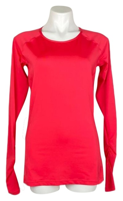 Item - Pink Orange Pro Coral Crew Neck Activewear Top Size 12 (L)
