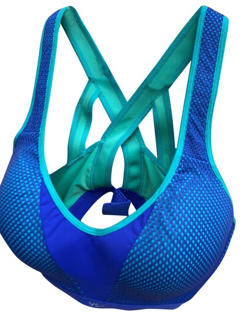 Item - Purple and Green Activewear Sports Bra Size 8 (M)