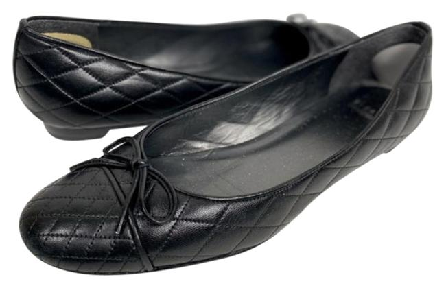 Item - Black Quilted Bow Ballet Flats Size US 10.5 Narrow (Aa, N)