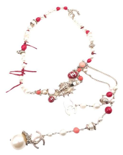 Item - Coral Cruise 2005 Seashell Pearl Red Motif Chain Rare Necklace