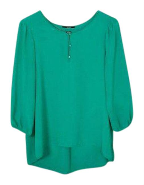 Item - Emerald Green Semi-sheer Blouse Size 6 (S)