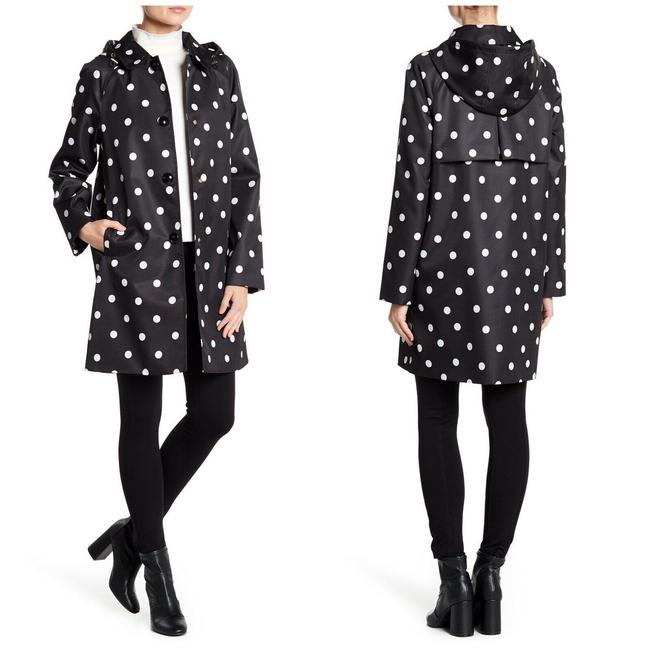 Item - Black Disco Dots Trench Coat Size 4 (S)
