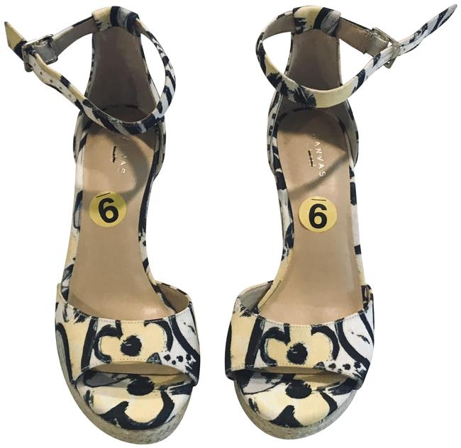 Item - Yellow Multi Open Toe Ankle Strap Wedges Size US 9 Regular (M, B)