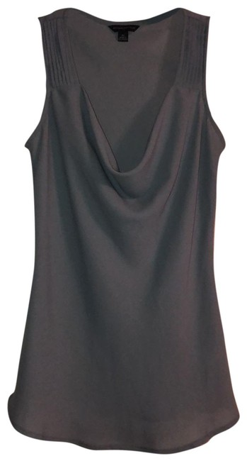 Item - Gray Pleated Shoulder Sleeveless Tank Top/Cami Size 2 (XS)
