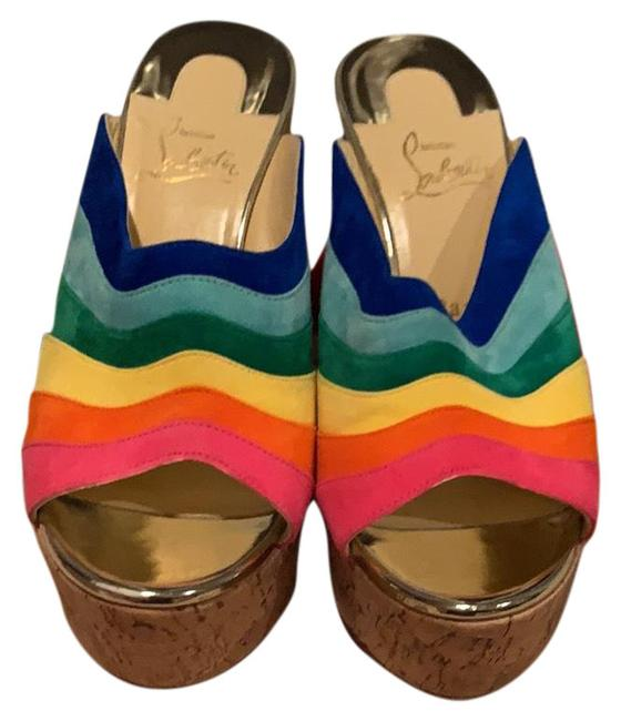 Item - Multicolor Mules/Slides Size EU 40 (Approx. US 10) Regular (M, B)