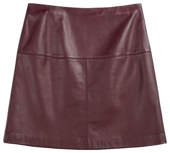Item - Wine Ted Baker Women's Valiat A-line Leather Skirt Size 2 (XS, 26)