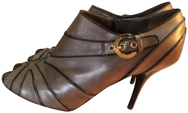 Item - Brown Black Italy Ankle Leather Boots/Booties Size EU 37 (Approx. US 7) Regular (M, B)