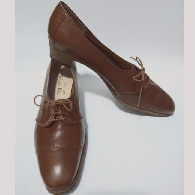 Item - Brown Lace Up Oxford Heels Pumps Size US 9.5 Narrow (Aa, N)