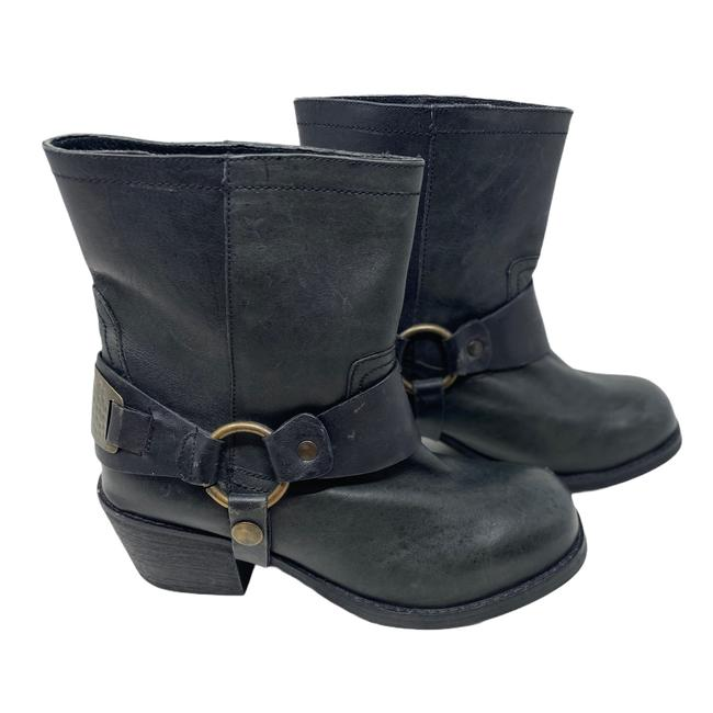 Item - Black Sherilyn Distressed Leather Boots/Booties Size EU 38 (Approx. US 8) Regular (M, B)