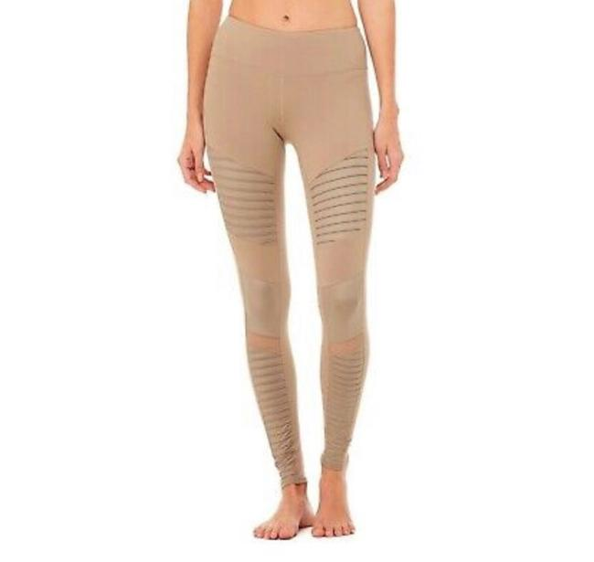 Item - Gravel Beige Moto Panel Activewear Bottoms Size 8 (M)