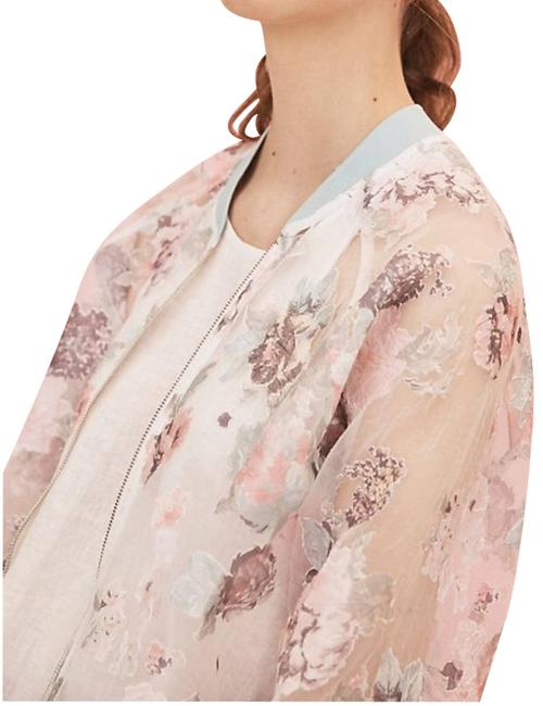 Item - Pink Maeve Textured Floral Bomber Jacket Size 0 (XS)