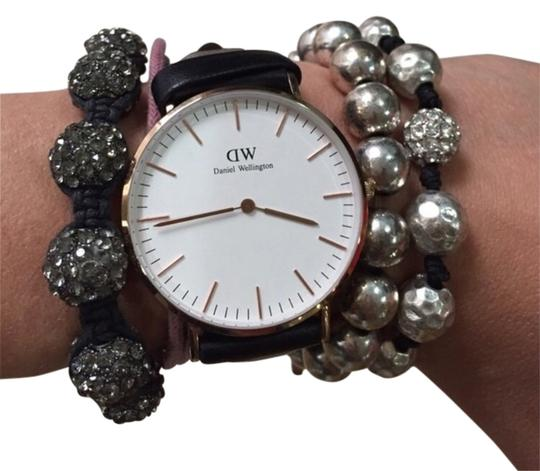 Preload https://item5.tradesy.com/images/silver-bead-with-diamond-accent-bracelet-2860564-0-0.jpg?width=440&height=440