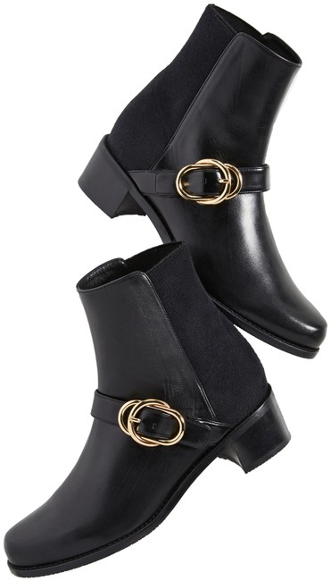 Item - Black Suzanne Leather 50/50 Boots/Booties Size EU 38.5 (Approx. US 8.5) Wide (C, D)
