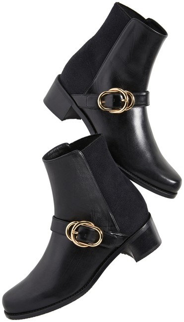 Item - Black Suzanne Leather 50/50 Boots/Booties Size EU 38 (Approx. US 8) Wide (C, D)