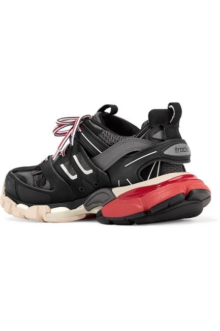Item - Track Logo-detailed Mesh and Rubber Sneakers Size EU 35 (Approx. US 5) Regular (M, B)