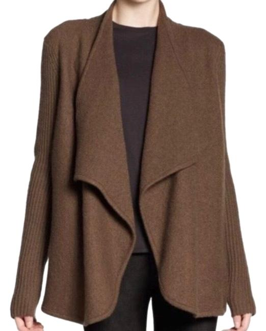 Item - Brown Boiled Felted Wool Sweater Coat Size 6 (S)