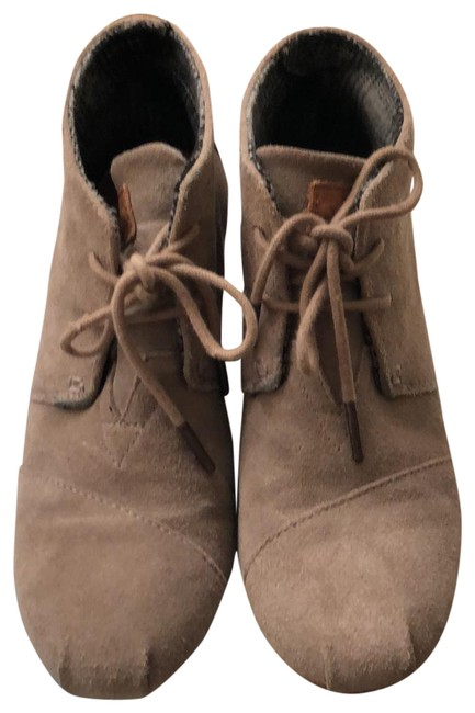 Item - Taupe Desert Wedge Boots/Booties Size US 7.5 Regular (M, B)