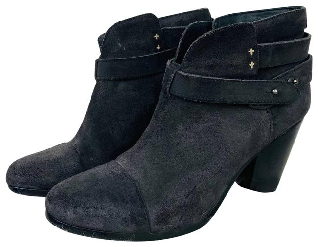 Item - Gray Dark Leather Suede Harlow Buckle Boots/Booties Size EU 39.5 (Approx. US 9.5) Regular (M, B)