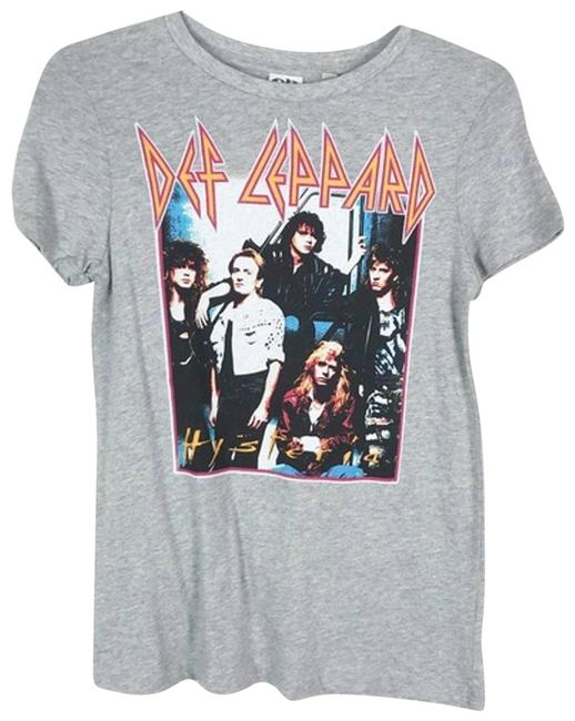 Item - Gray XS Def Leopard Graphic Band 80s 90s Rock Festival Tee Shirt Size 0 (XS)