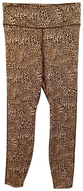 Item - Blk Hold White New Cheetah Gym Retail Activewear Bottoms Size 10 (M)