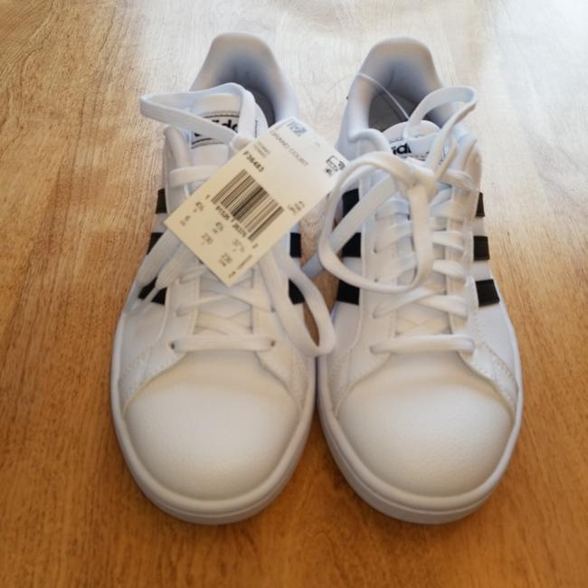 Item - White with Black Stripes Grand Court Sneakers Size US 6 Regular (M, B)