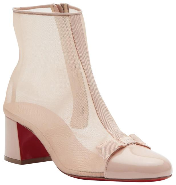 Item - Beige Checkypoint 55mm Mesh See Through Bow Patent D171 Boots/Booties Size EU 40.5 (Approx. US 10.5) Regular (M, B)