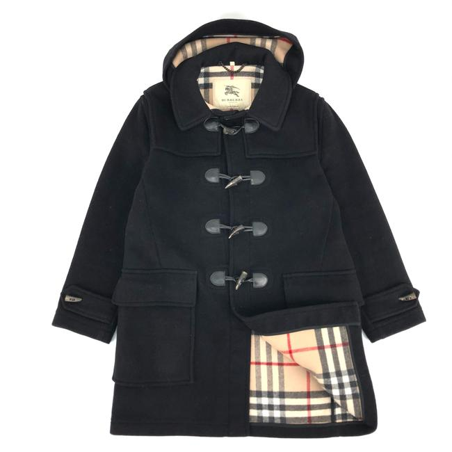 Item - Black Duffle W Mens Wool Nova Check Coat Size 16 (XL, Plus 0x)