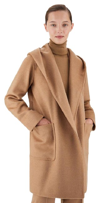 Item - Beige Rialto Wrap-over Camel Hair Coat Size 6 (S)
