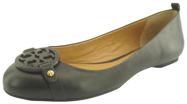 Item - Black Gabriel Leather Ballet Logo Toe Flats Size US 7 Regular (M, B)