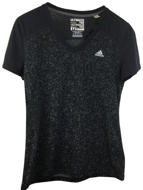 Item - Black & Gray Ultimate Activewear Top Size 8 (M)