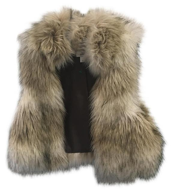 Item - Off White Item Faux Fur Red Line Vest Size 12 (L)