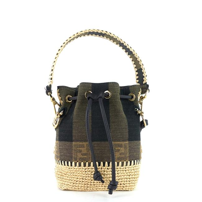 Item - Bucket Mon Tresor Mini Pequin Beige Canvas Cross Body Bag
