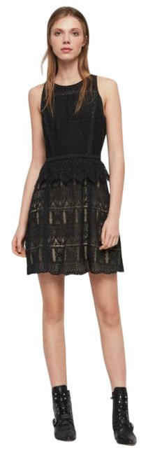 Item - Black with Nude Lining Melia Short Cocktail Dress Size 6 (S)