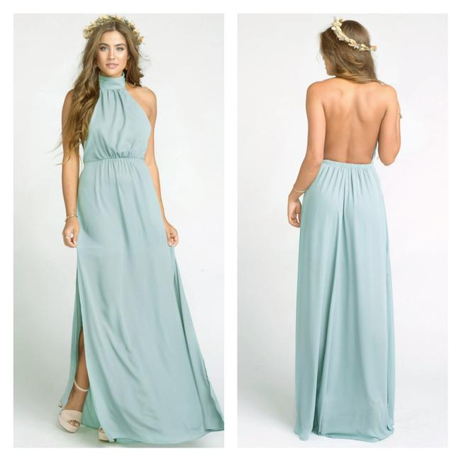 Item - Silver Sage Collette Halter Backless Gown Bridesmaid Wedding Guest Long Formal Dress Size 4 (S)
