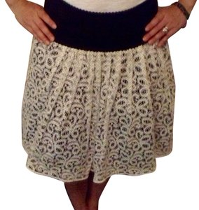 Anthropologie Skirt White And Black