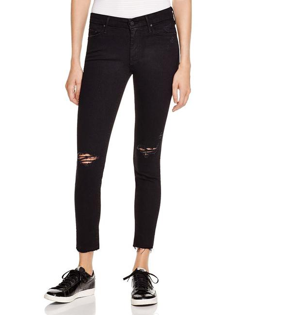 Item - Black Distressed The Looker Ankle Fray Capri/Cropped Jeans Size 30 (6, M)