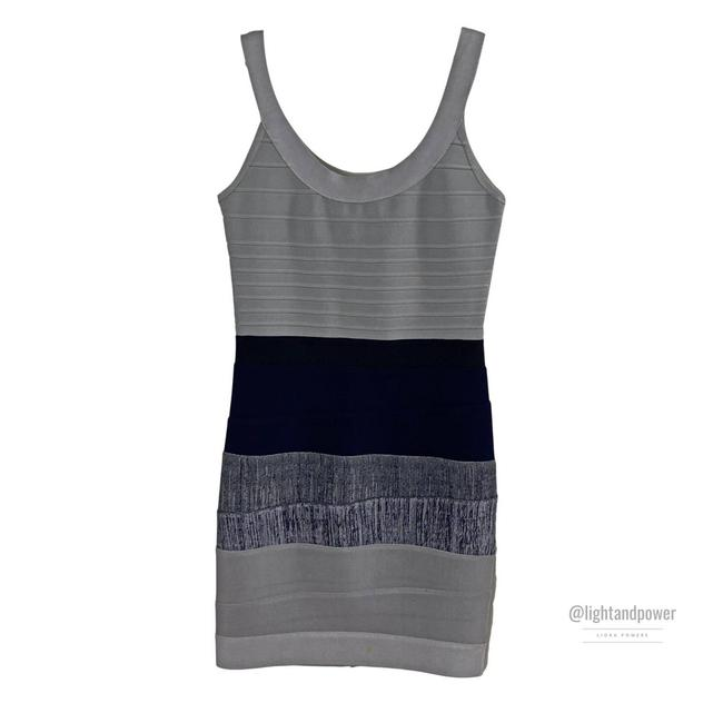 Item - Gray Blue Bandage with Faults Short Cocktail Dress Size 8 (M)